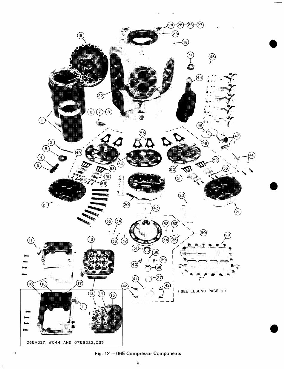X v.-------------- @ _ ?' i, Fig. 12 — 06e compressor
