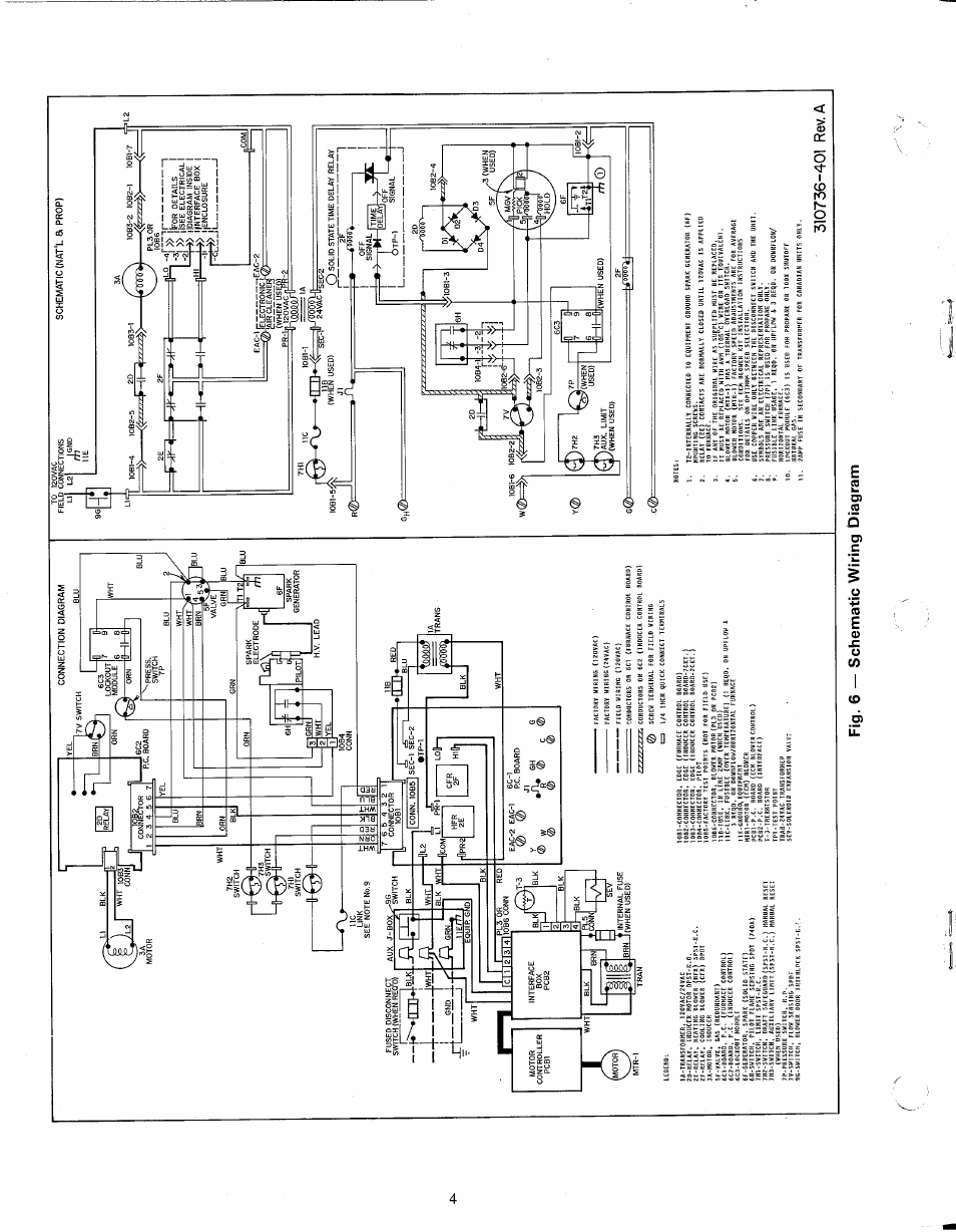 310736-401 rev. a, Fig. 6 — schematic wiring diagram, 5/>s