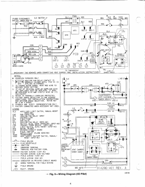 Fig 9—wiring diagram (iid pilot) | Carrier 58DR User