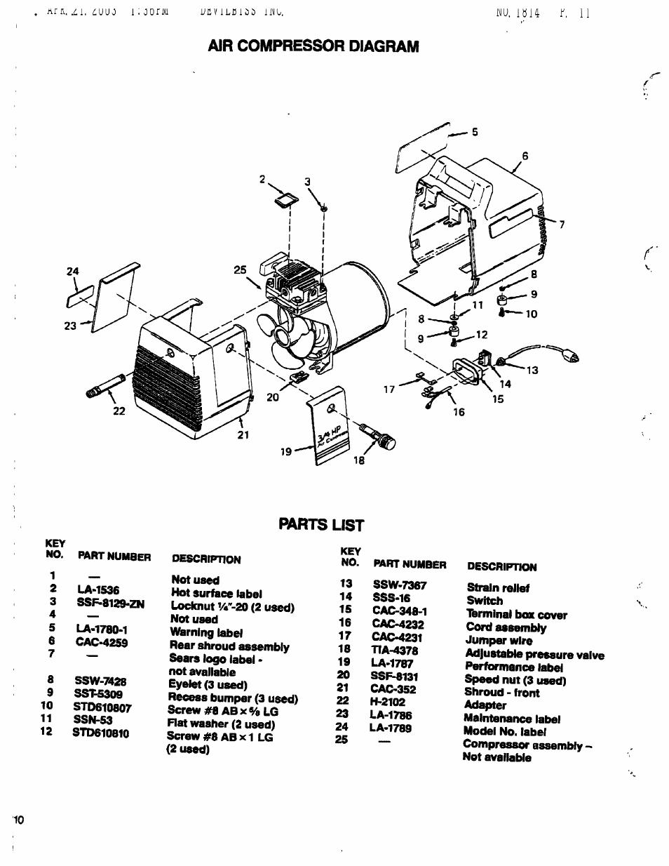 Craftsman Compressor Wiring Diagram