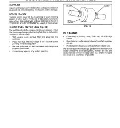 vluffler spark plugs in line fuel filter see fig 20 sears 917 25953 user manual page 20 30 [ 954 x 1215 Pixel ]