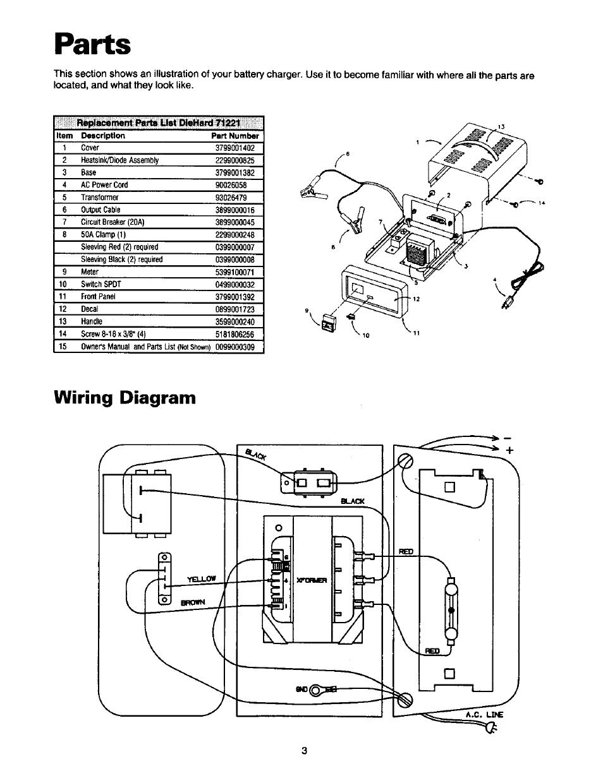 diehard battery charger wiring diagram