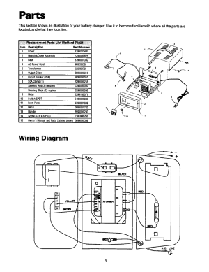 Parts, Wiring diagram | Sears 20071221 User Manual | Page 4  11