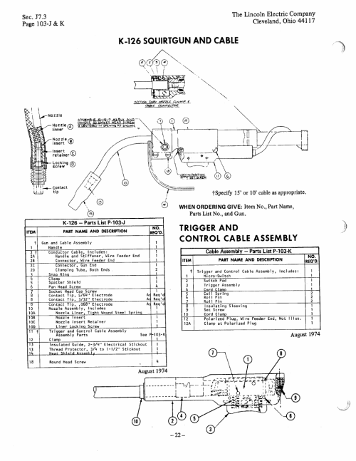 small resolution of k 126 squirtgun and cable trigger and control cable assembly lincoln ln 7 user manual page 22 28