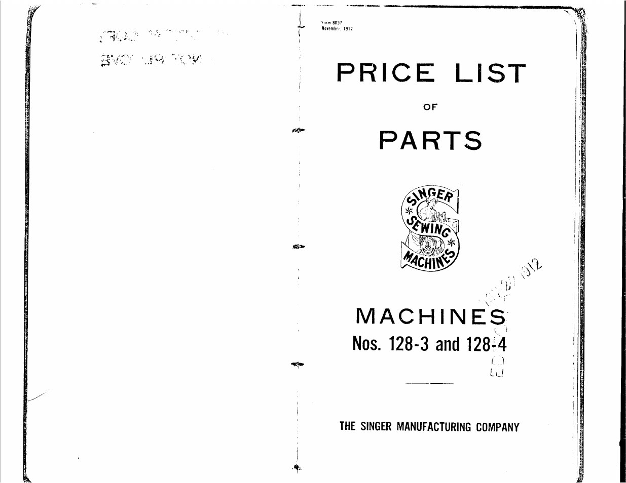 Singer 128 4 User Manual