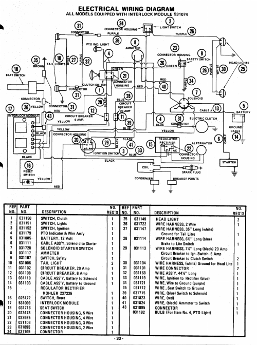 small resolution of electrical wiring diagram ariens garden tractors 931013 s 14g userelectrical wiring diagram ariens garden tractors 931013