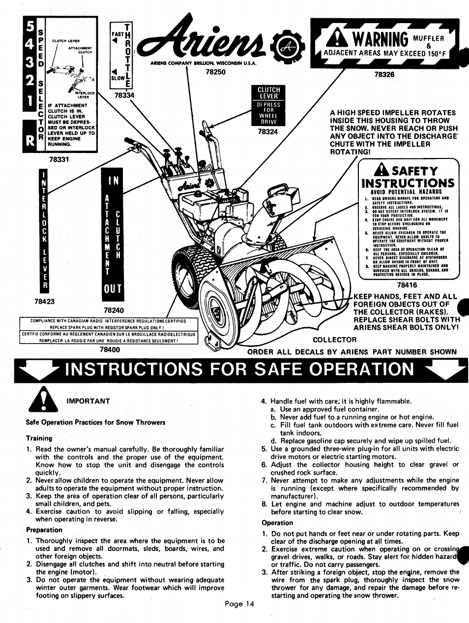 A safety instructions, Instructions for safe operation