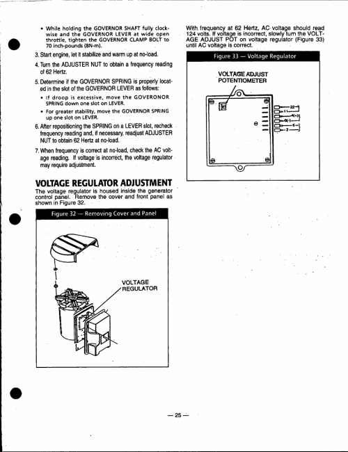 small resolution of voltage regulator adjustment generac power systems 91355 user ford tractor wiring diagram generac regulator diagram