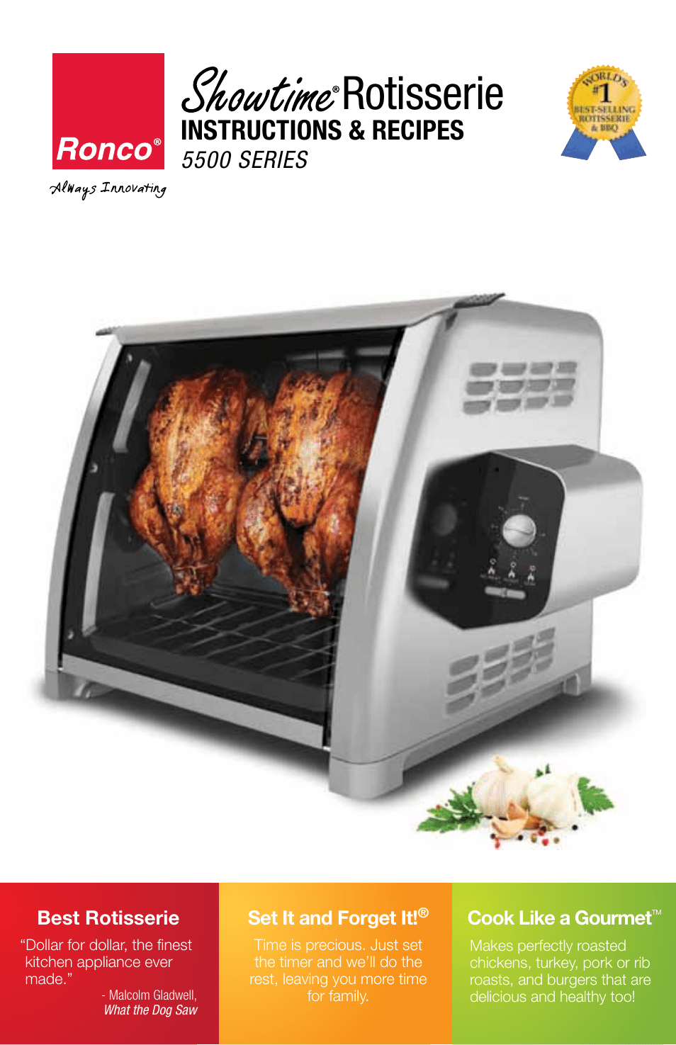 Ronco 5500 Series Stainless Rotisserie Oven User Manual