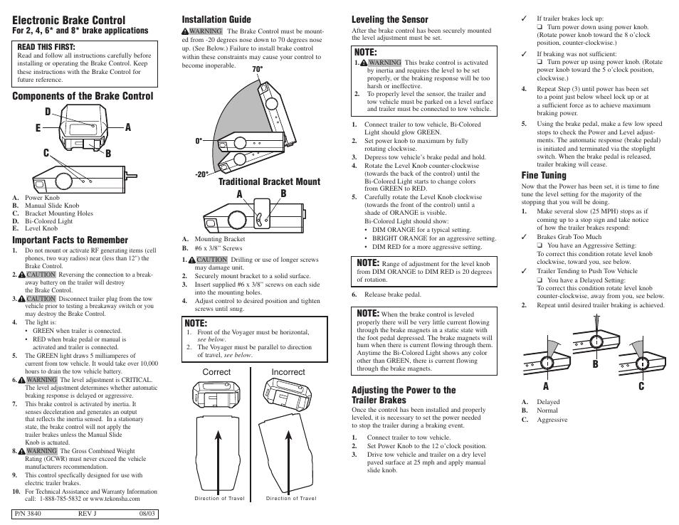 tekonsha p3 wiring installation manual