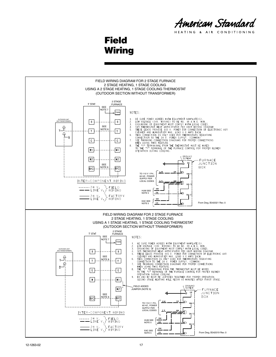 hight resolution of two stage furnace wiring