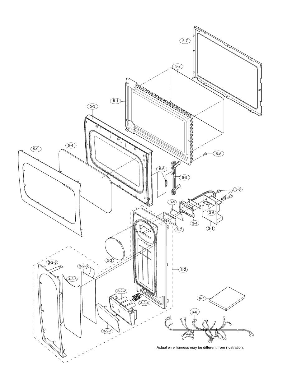Door and control panel parts, 2] door and control panel