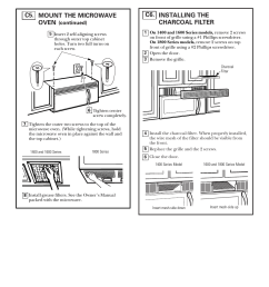 installing the charcoal filter installation instructions ge spacemaker xl1800 user manual page 22 [ 954 x 1235 Pixel ]
