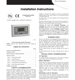 carrier base series programmable thermostats tb pac user manual 8 pages also for [ 954 x 1235 Pixel ]