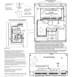 12v 7 ahr 12v 7 ahr north america only dsc powerseries pc1616 hardware installation  [ 954 x 1235 Pixel ]