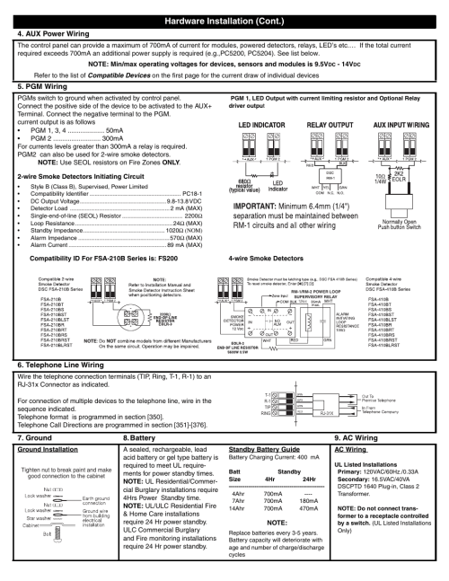 small resolution of dsc powerseries pc1616 user manual page 4 16