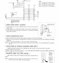 wiring power supply adaptor wiring door release el 9s installation of optional extension chime ibrtq aiphone ibg 2ad user manual page 3 4 [ 954 x 1244 Pixel ]