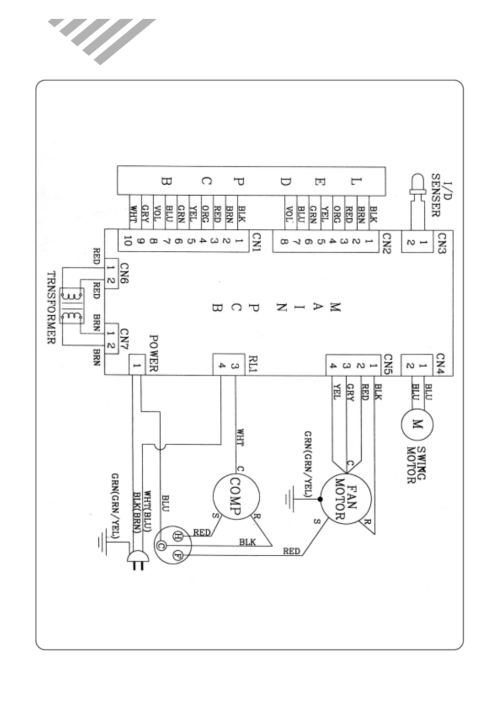 small resolution of wiring diagram daewoo room air conditioner dwc 121r user manual rh manualsdir com air conditioner compressor wiring diagram auto air conditioner wiring