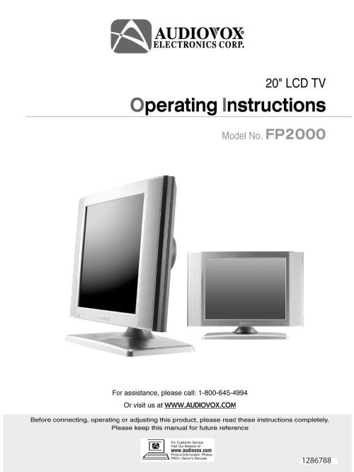 small resolution of audiovox tv