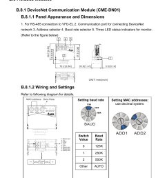 b 8 fieldbus modules b 8 1 devicenet communication module cme dn01 delta vfd el wiring diagram [ 954 x 1357 Pixel ]