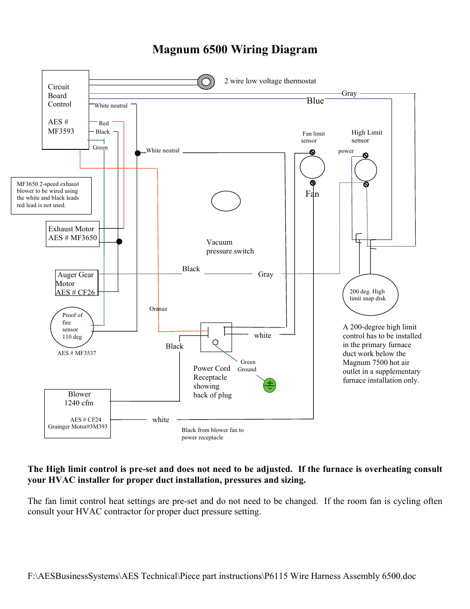 medium resolution of magnum 6500 wiring diagram american energy systems p6115 wire harness user manual page 2 2