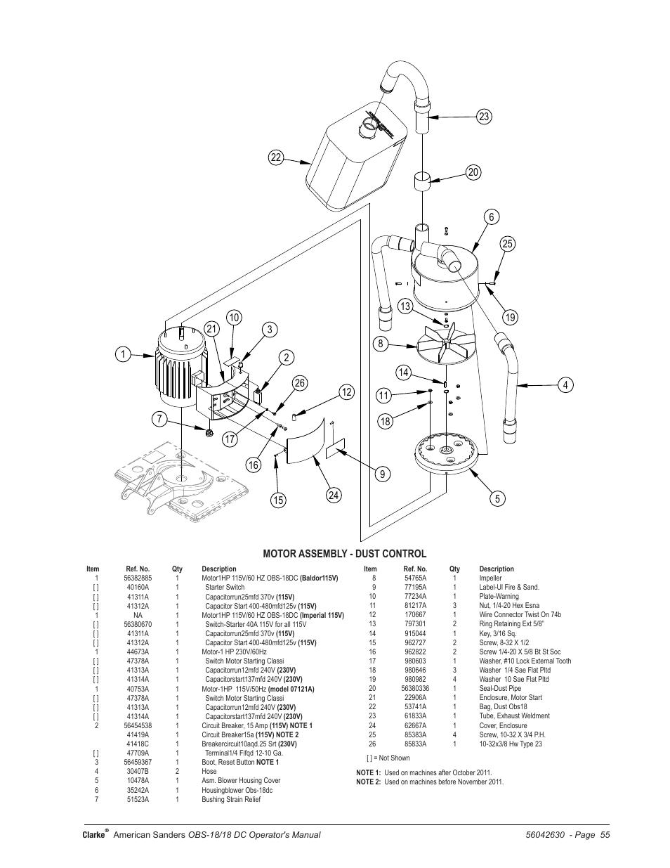 American Sanders OBS 18DC Orbital Sander User Manual