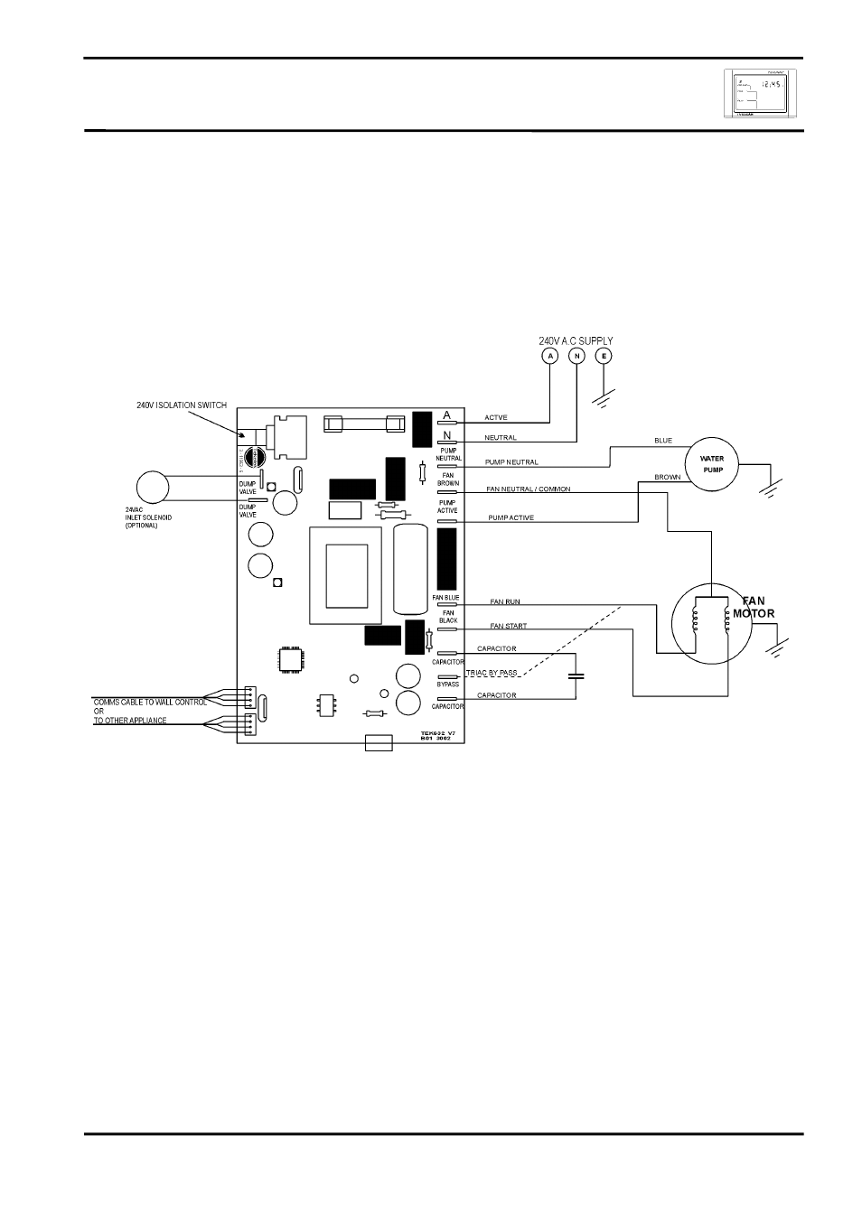 hight resolution of circuit diagram ircuit iagram bonaire touchpad control lv tekelek user manual page 16 32