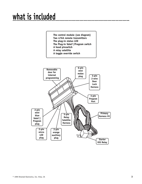 small resolution of what is included directed electronics automate 552 user manual page 3 42