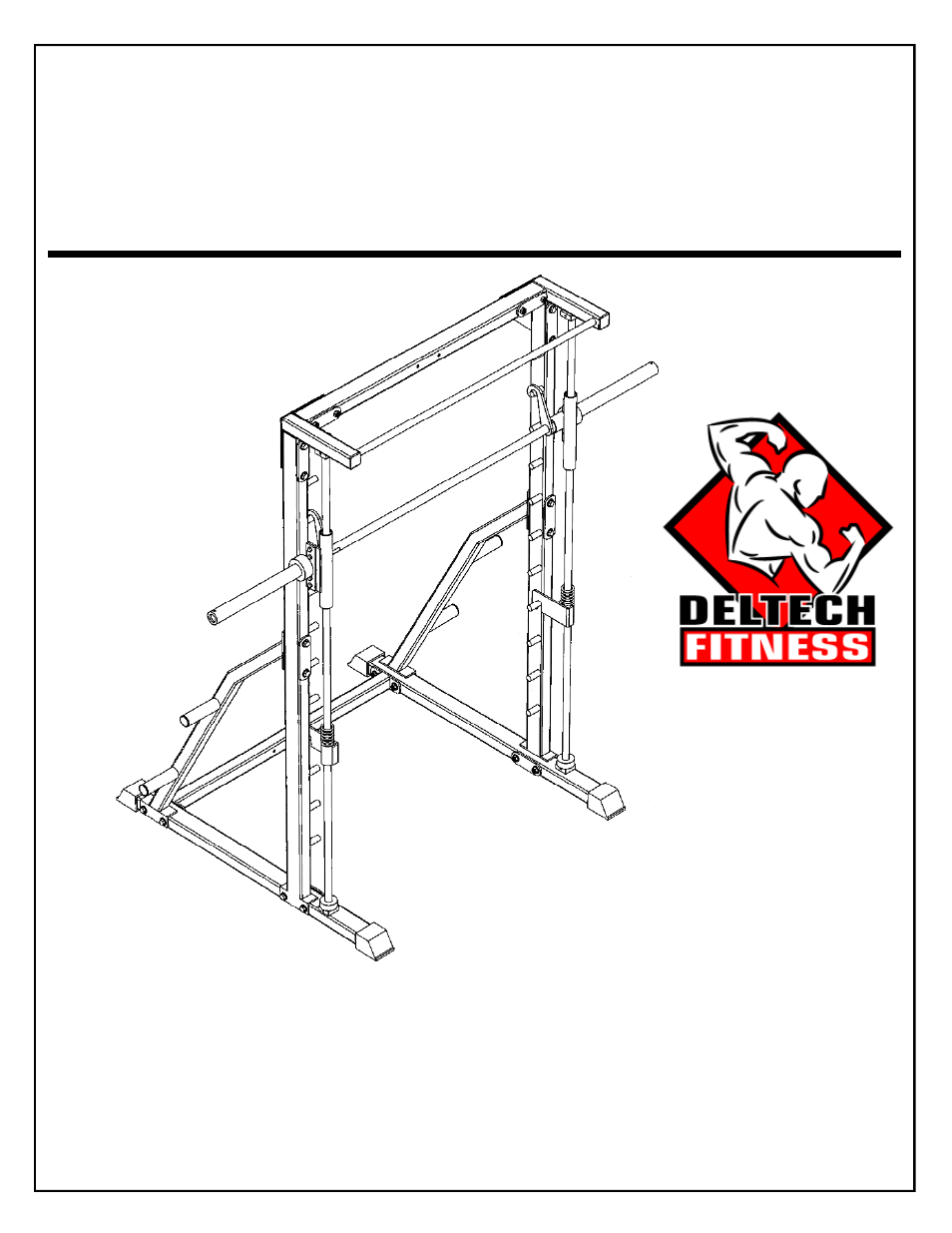 Deltech Fitness DF4900- Linear Bearing Smith Machine User