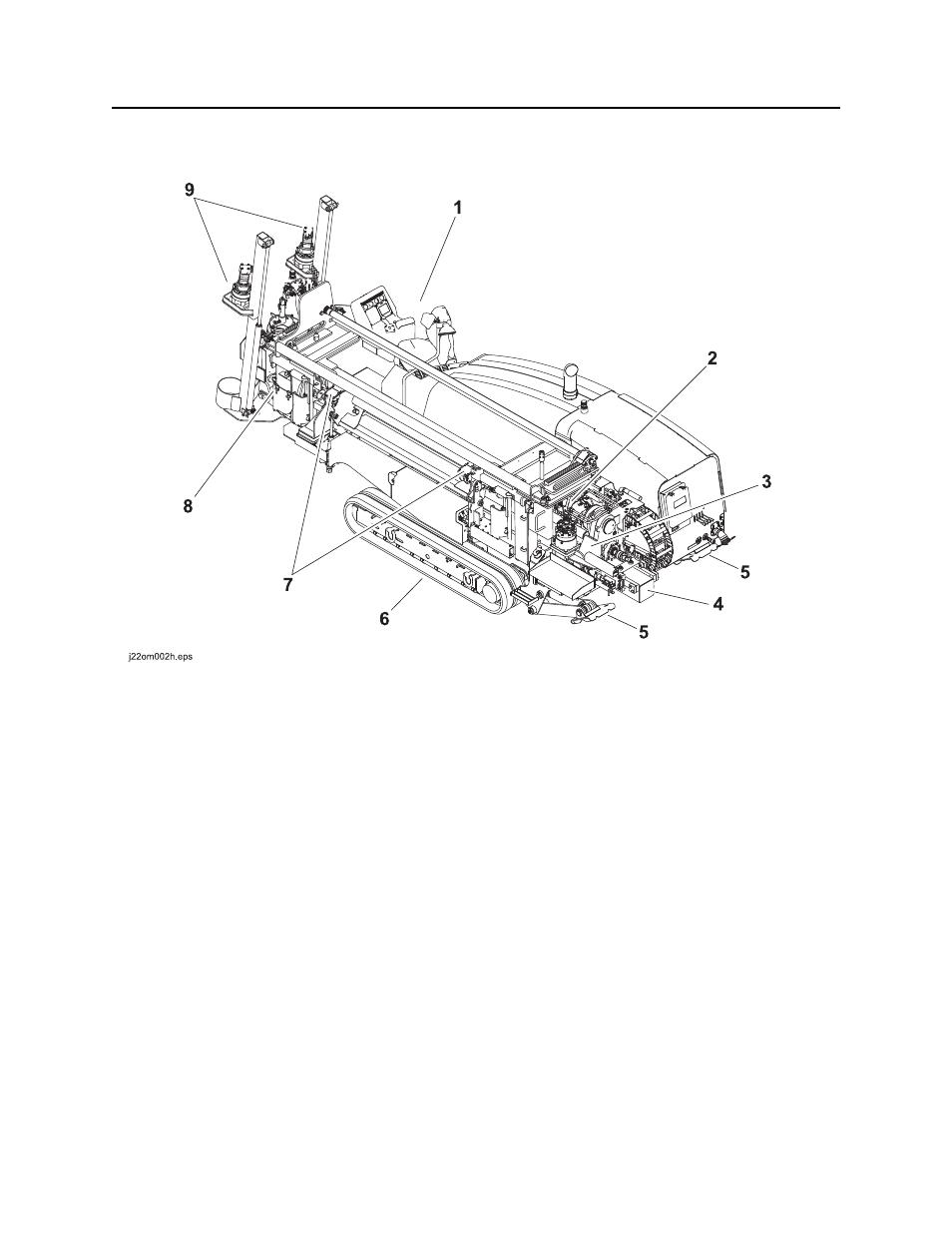 Unit components, Jt30 /jt30 all terrain operator's manual