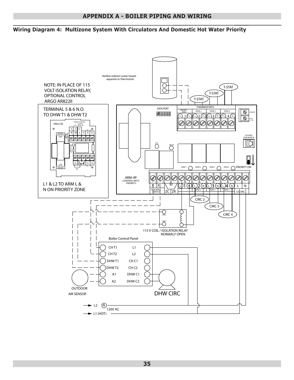 medium resolution of dhw circ appendix a boiler piping and wiring dunkirk q95m 200 modulating condensing boiler user manual page 35 52