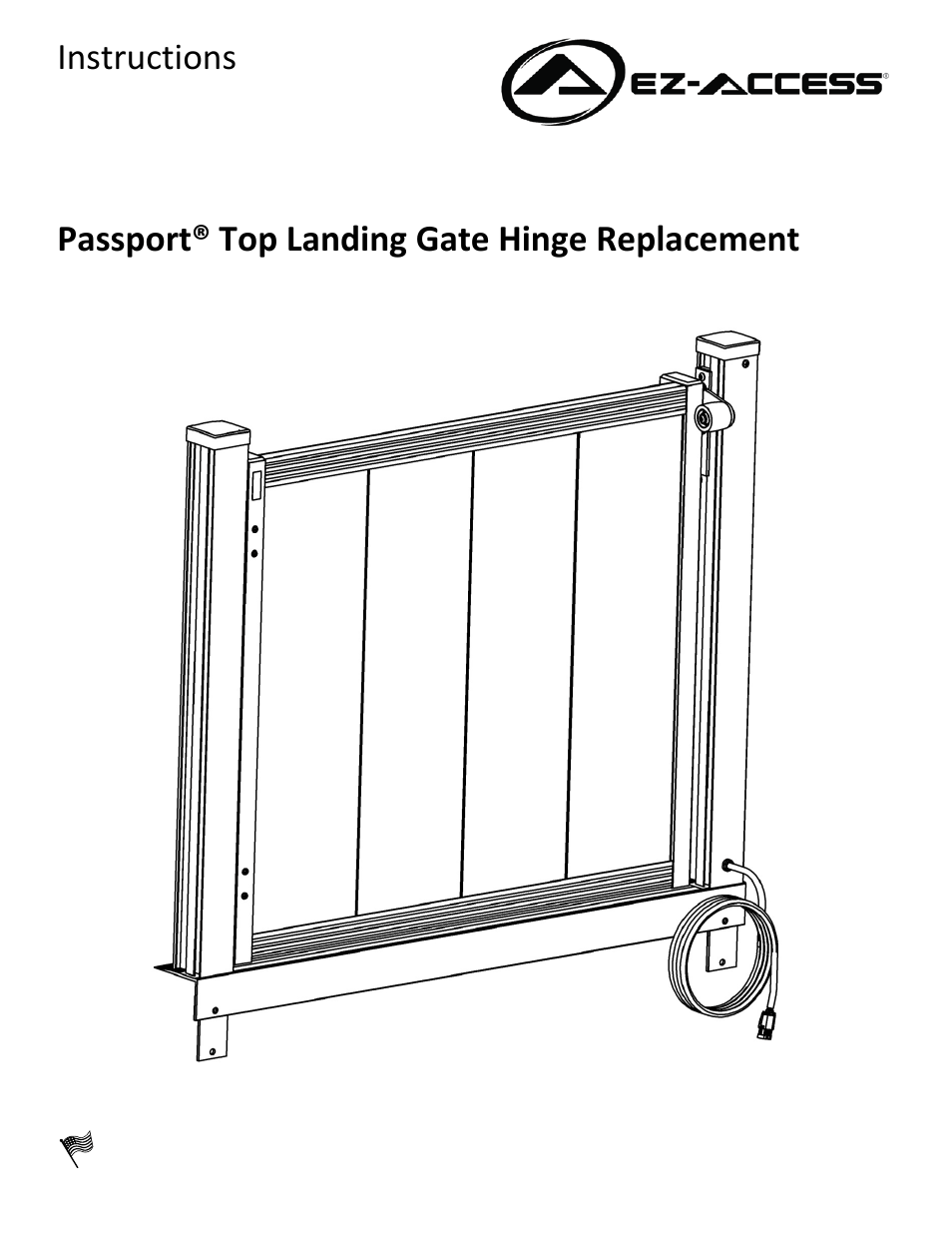 EZ-ACCESS PASSPORT TOP LANDING GATE HINGE REPLACEMENT User