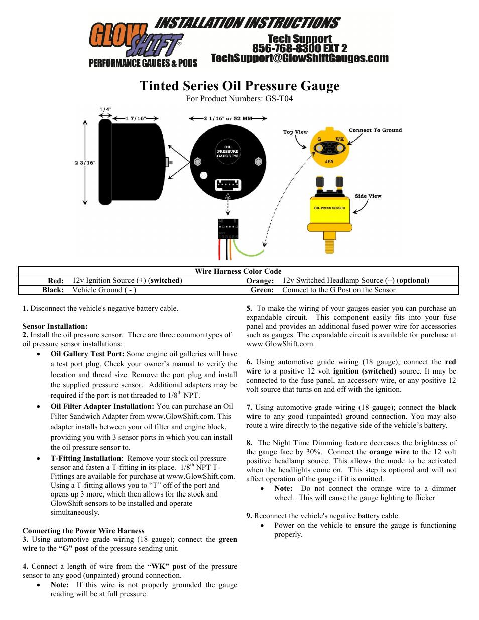 glowshift egt gauge wiring diagram animal cell membrane labeled coo vipie de rh 7 malibustixx oil pressure