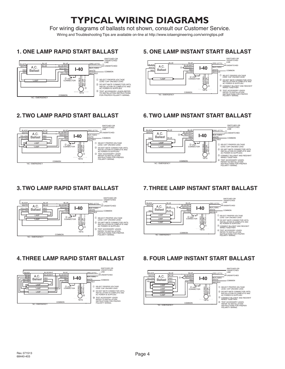 iota i 24 emergency ballast wiring diagram allen bradley transformer diagrams typical page 4 40 user manual pagetypical