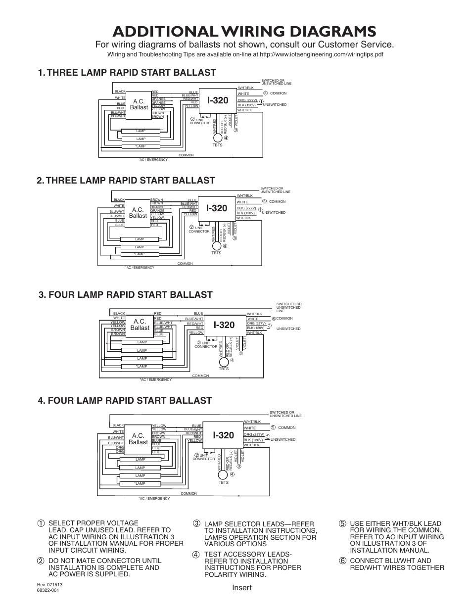 iota i320 emergency ballast wiring diagram energy transformation types library additional diagrams i 320 three lamp rapid start