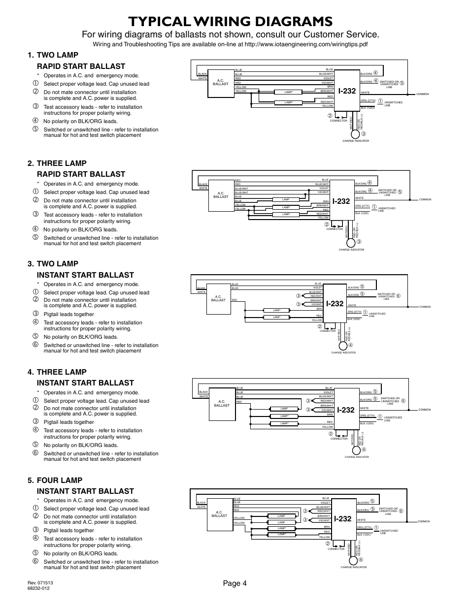 hight resolution of typical wiring diagrams page 4 i 232 iota i 232 user manual page 4 4