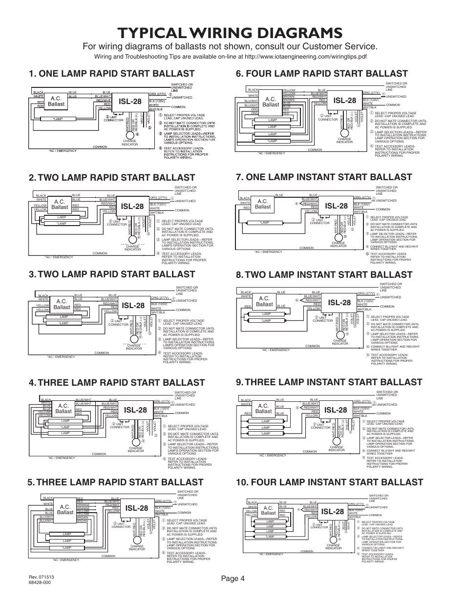 iota i 24 emergency ballast wiring diagram for hotel management er typical diagrams two lamp rapid start three lamptypical