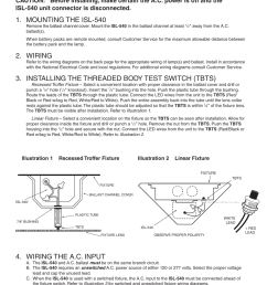 installation instructions mounting the isl 540 wiring iota isl 540 35w user manual page 2 5 [ 954 x 1235 Pixel ]
