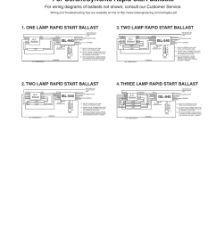 typical wiring diagrams for osram sylvania rapid start ballasts isl 540 ballast wiring diagram [ 954 x 1235 Pixel ]