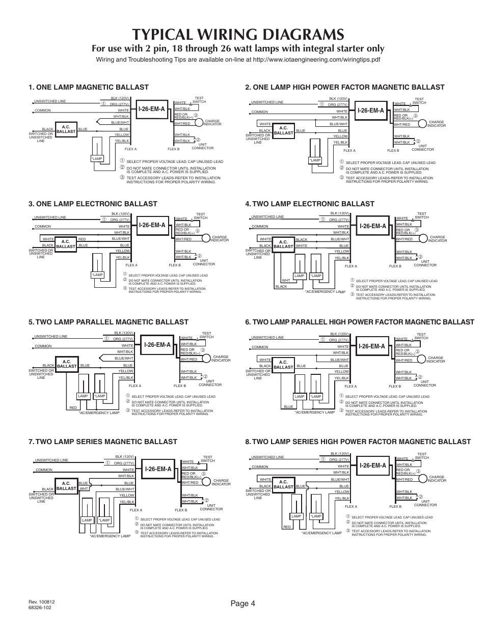 iota i 24 emergency ballast wiring diagram 2000 vw jetta audio fluorescent best librarytypical diagrams page 4 26 em a