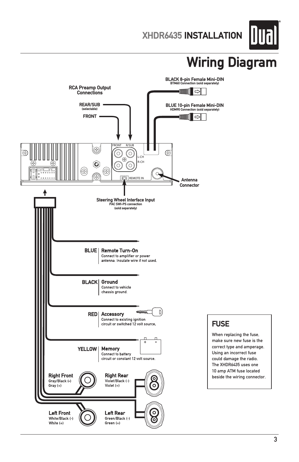 Dual Xhdr6435 Wiring Harness : 28 Wiring Diagram Images
