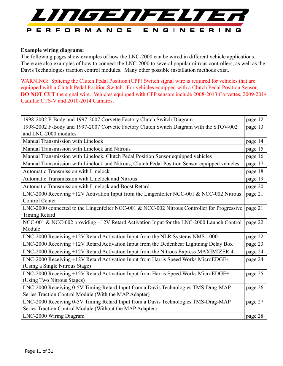 medium resolution of lingenfelter l460145297 lingenfelter lnc 2000 ls timing retard launch controller v2 0 user manual page 12 32