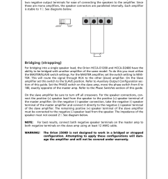 speaker connections bridging strapping directed electronics hcca d1200 user manual  [ 954 x 1235 Pixel ]