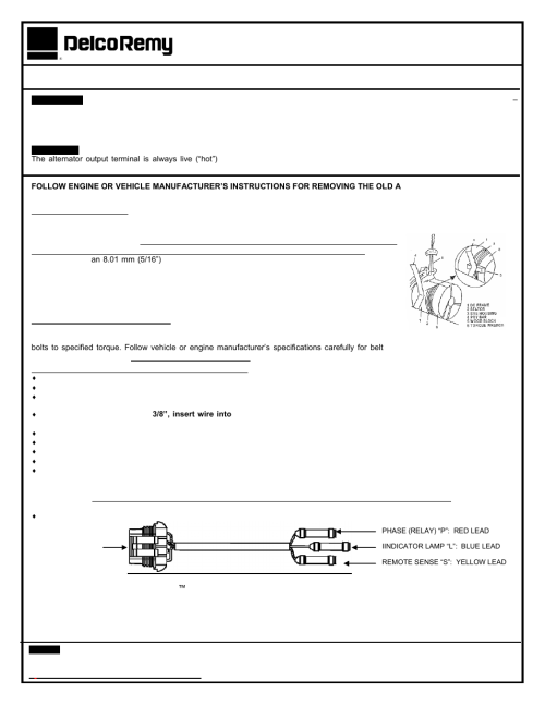 small resolution of remy replacing delco remy 24si alternatators user manual 2 pages also for replacing delco remy 23si alternatators replacing delco remy 22si