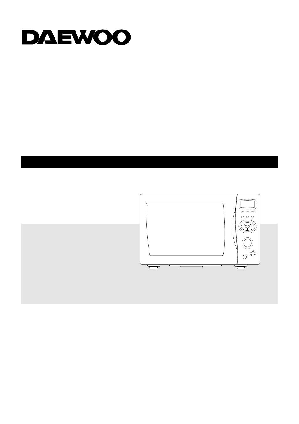Daewoo Edition I Microwave Convection Oven Manual