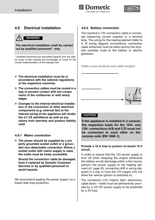 small resolution of 9 electrical installation dometic absorption rmd 8555 user manual page 18 24