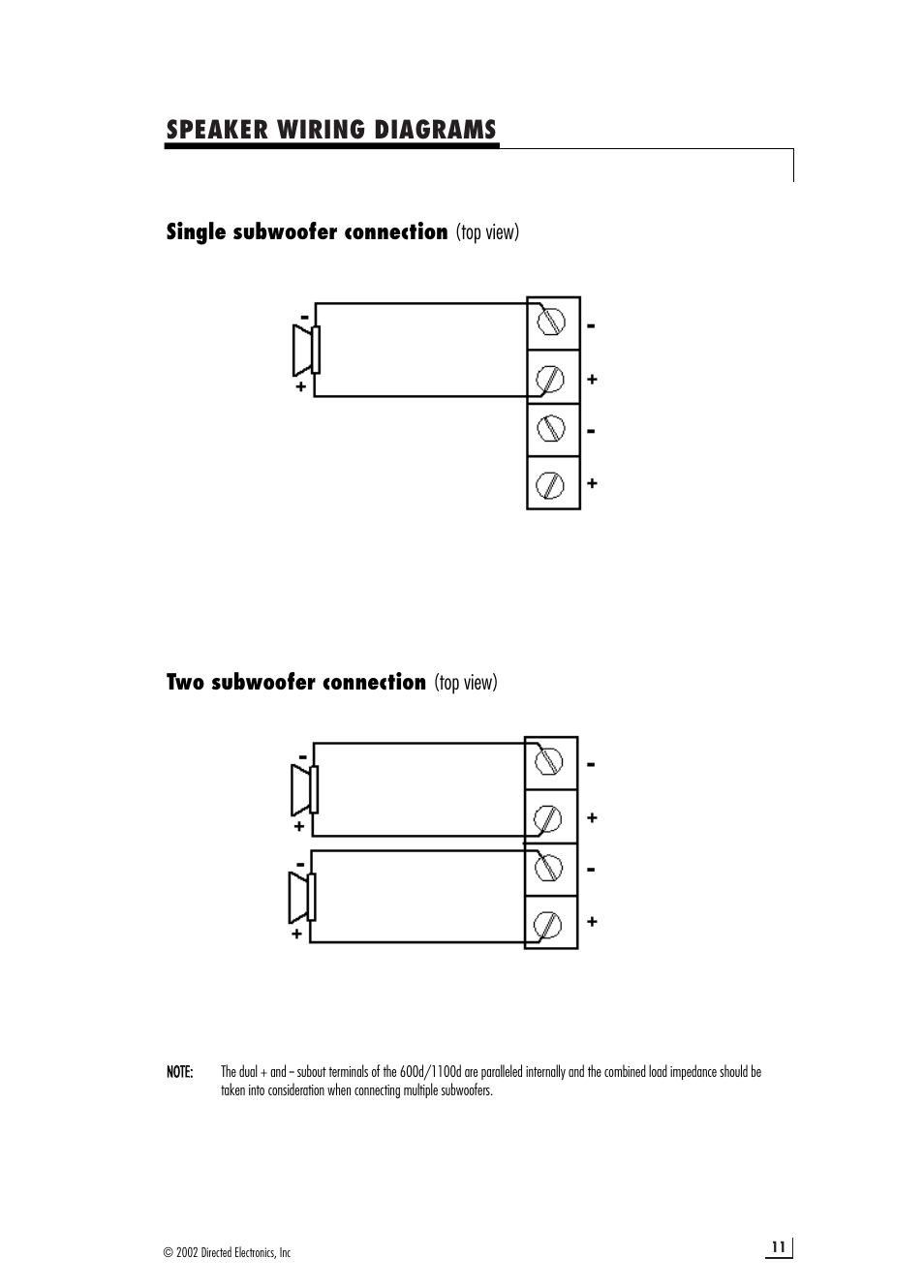 hight resolution of speaker wiring diagrams directed electronics 1100d user manual page 11 20