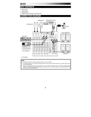 Box contents, Connection diagram | Alto Professional