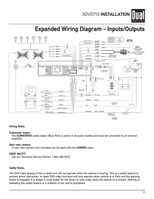 Expanded wiring diagram  inputsoutputs, Xdvd710