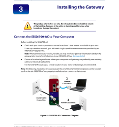installing the gateway connect the sbg6700 ac to your computer figure 3 sample sbg6700 ac gateway label arris sbg6700 user guide user manual page 18  [ 954 x 1235 Pixel ]